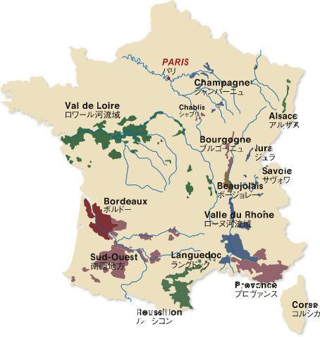 フランスマップ