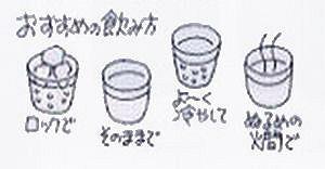 白老梅8飲み方